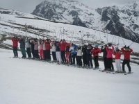 跳台滑雪级的滑雪场滑雪