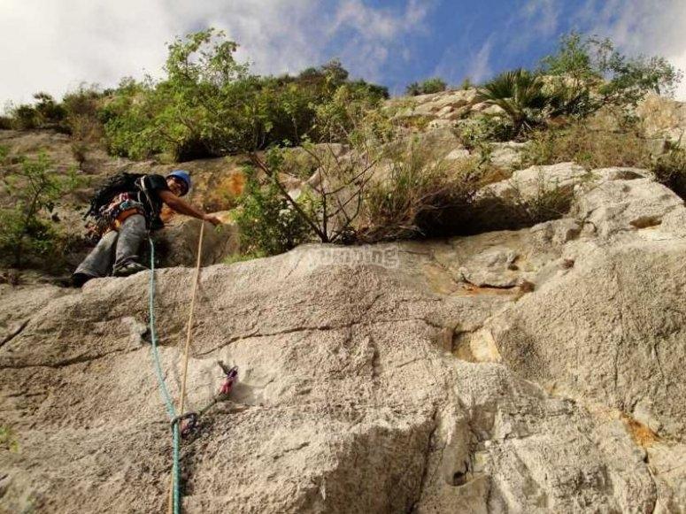 Tramo horizontal de escalada