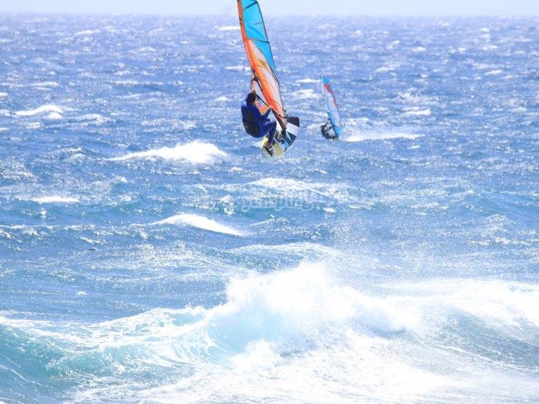Dia de surf a vela en la Playa del Inglés
