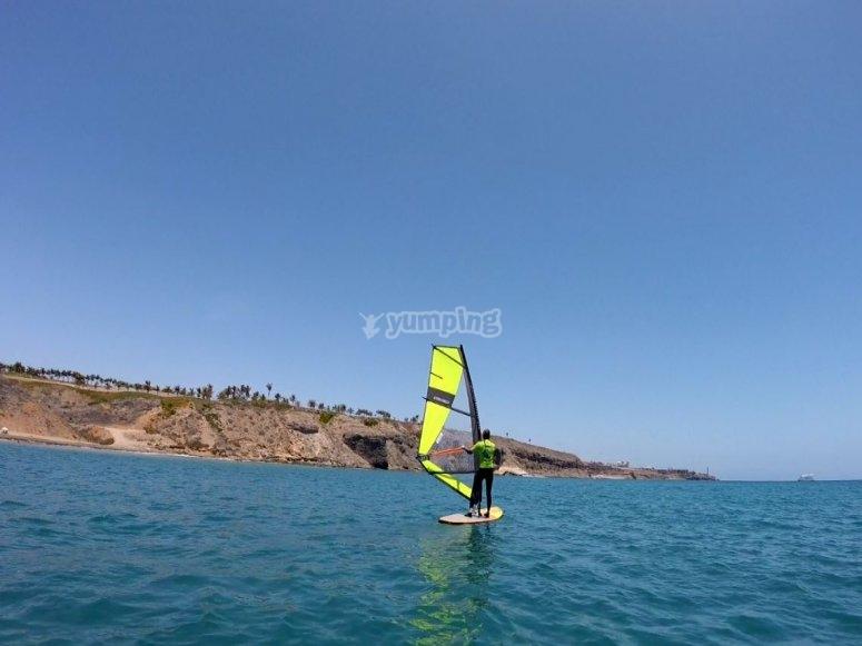 La paz de las playas de Maspalomas
