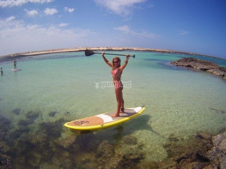 Paddle surf en Maspalomas