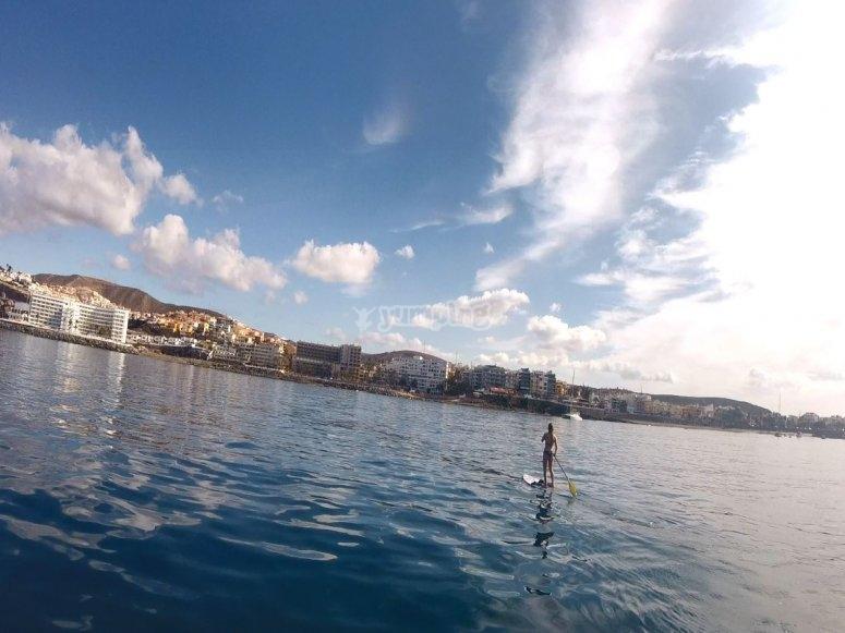 Navegar en tabla de paddle surf Maspalomas