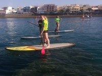 Paddle surf en la costa de Gran Canaria
