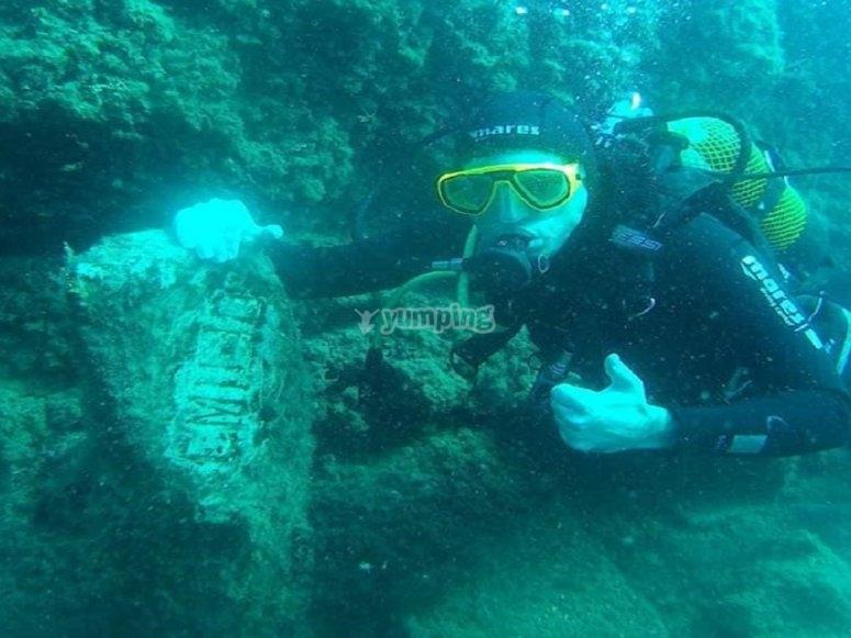 The pleasure of diving in Mazarrón bay