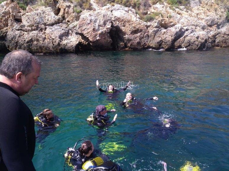Mazarrón-999潜水课程-Mazarrón-999潜水救援-Mazarrón-999高级OWD课程-CaboTiñoso潜水课程