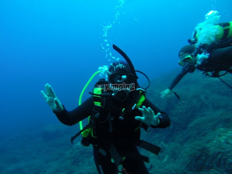 Scuba diving classes for groups Mazarrón