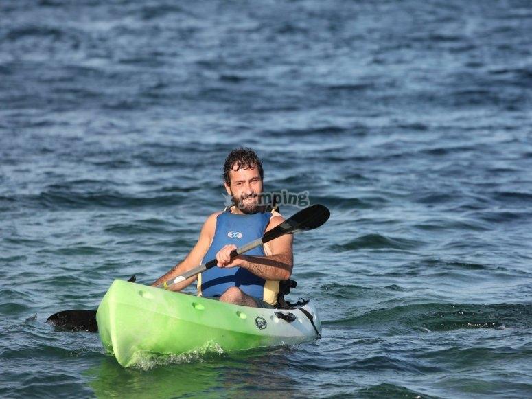 Remando por aguas gallegas