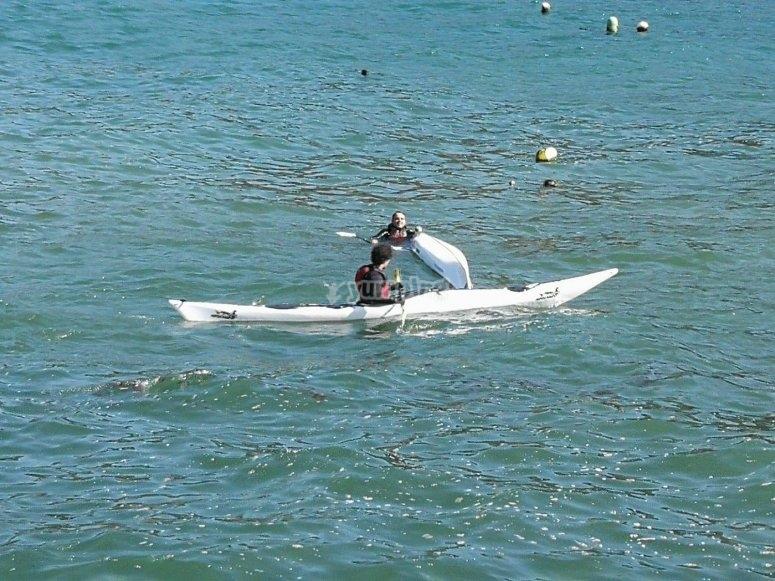 Ruta por Ézaro en kayak