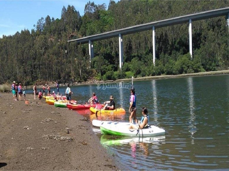 Arranca el tour por el Río Xallas en kayak