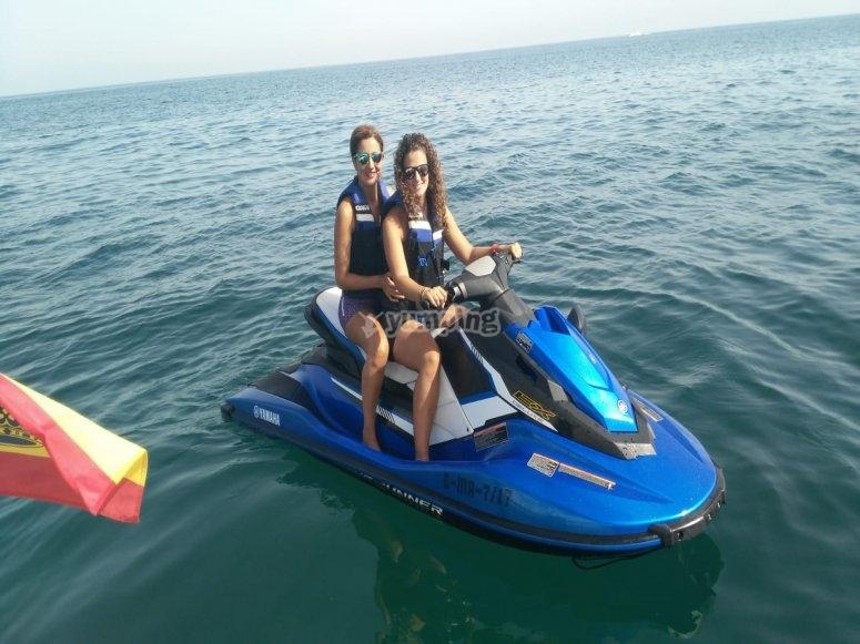 Salida en moto de agua grupos Estepona
