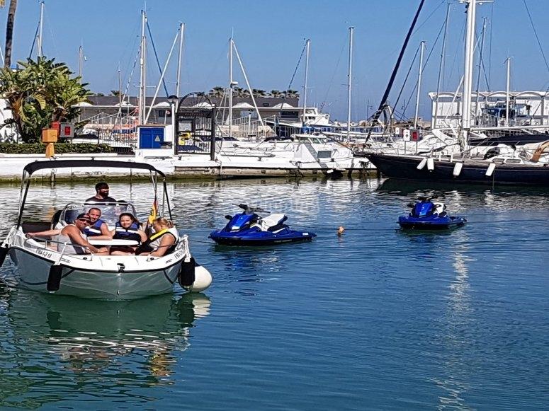 Motos de agua puerto de Estepona