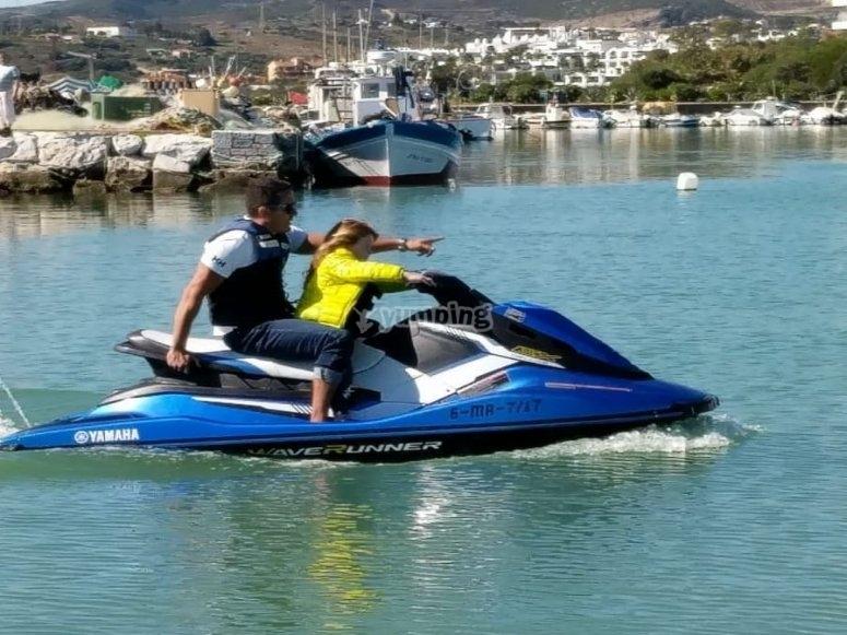 Montando en moto de agua por Manilva