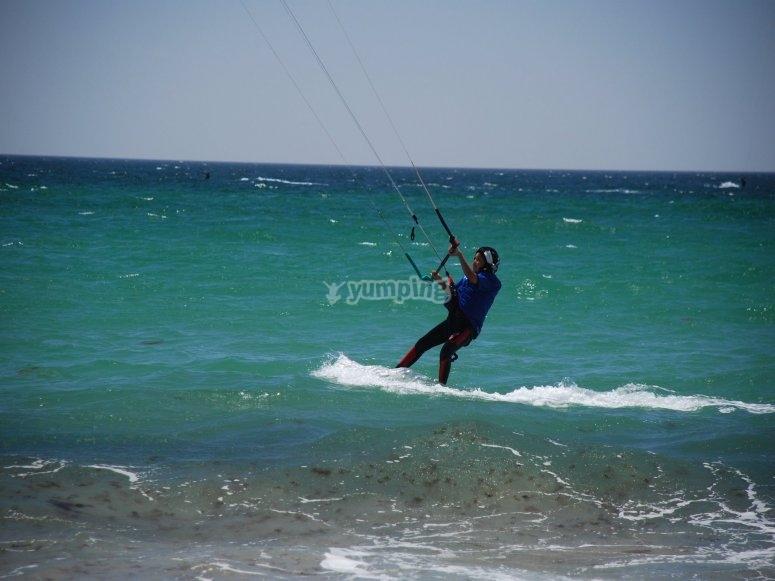 Clase privada kitesurf en Tarifa para 2