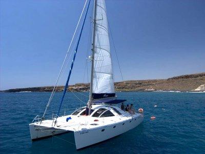Tour compartido de 3 horas en catamarán Adeje