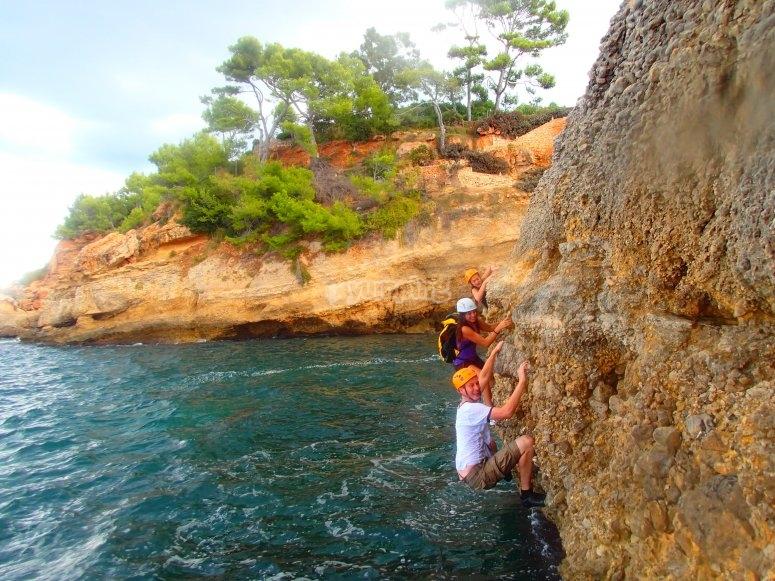 攀岩由Mallorcan湾