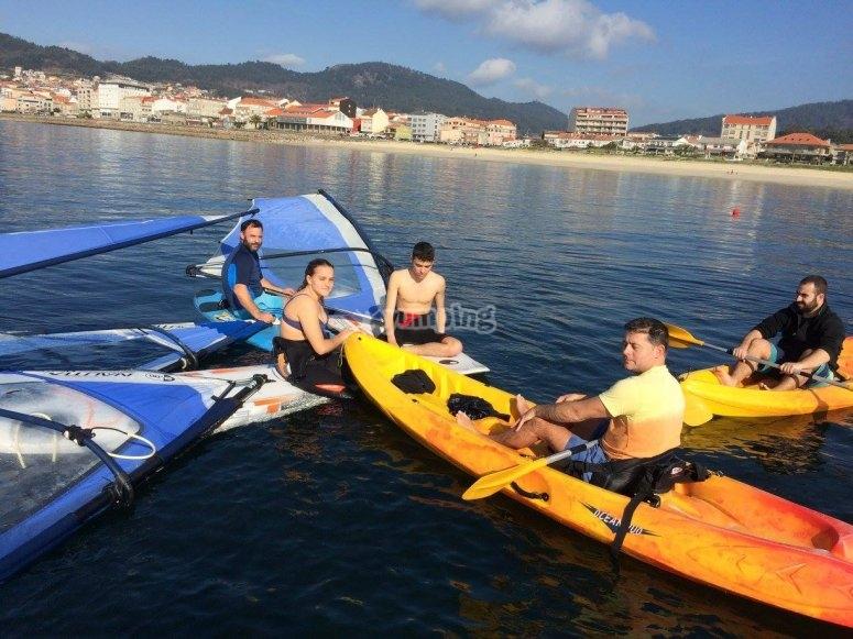 Kayak route in good company in the Atlantic
