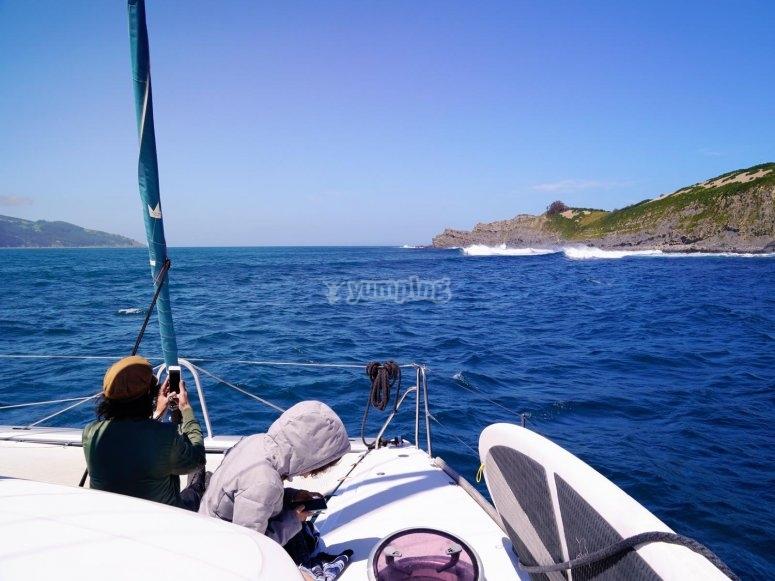 Travesía marítima por acantilados de Ogoño