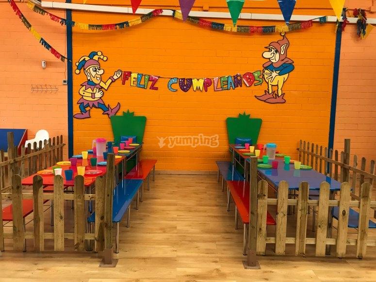Celebra cumpleaños en nuestro local de Valdemoro