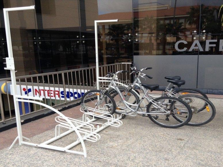 Large fleet of bicycle rental Adeje