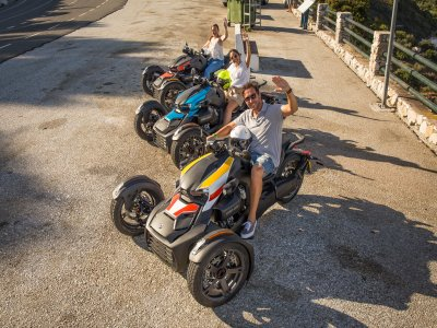 Guided tour on Can Am Ryker in Júzcar 3 hours