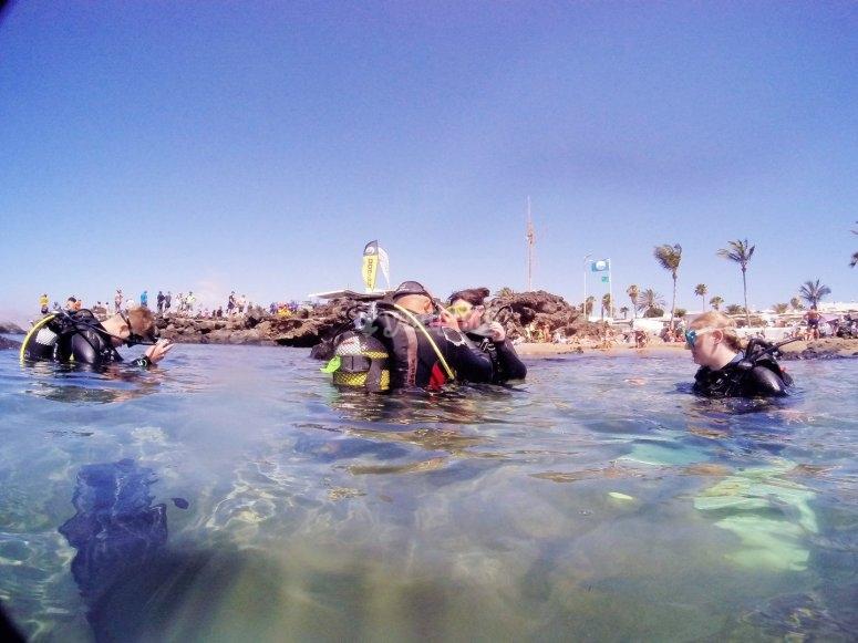 Explicación teórica para bautismo buceo en Lanzarote