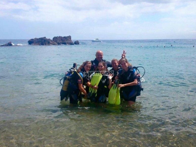 Jornada de buceo en Lanzarote
