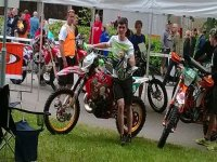 En un evento de motos
