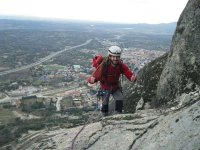 攀爬的好朋友环绕自己-马德里塞拉利昂的山脉
