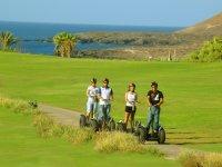 Segway tour on  golf course of Costa de Adeje