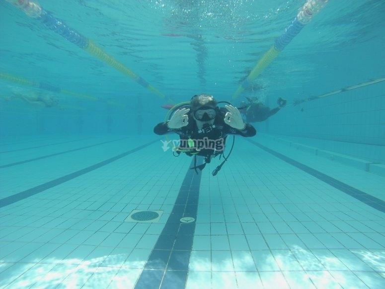 Primeras inmersiones en aguas confinadas en Illescas