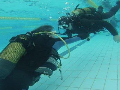 Bautizo de buceo en piscina en Illescas 3 horas