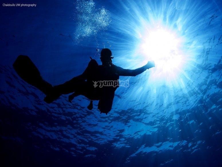 在福门特拉岛(Formentera)的深度
