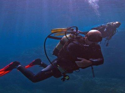 Buceo en Formentera con equipo completo