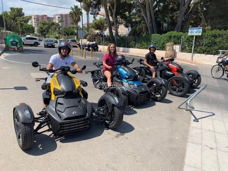 Grupo de Rykers en Castellón