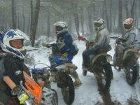 Practicando en la nieve