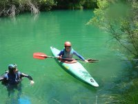 Mezcla de buceo y kayaks.