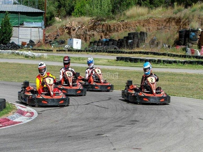 Karting de team building en Torrejón