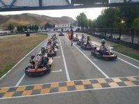 Parrila de salida en circuito de karts de Torrejón