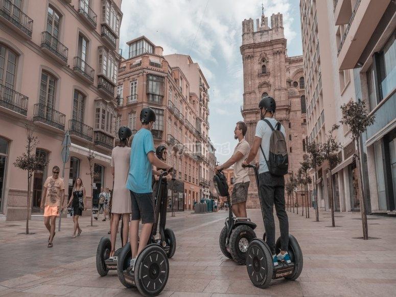 Ruta guiada en segway por Málaga