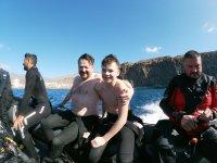 Bautismo de buceo 2 inmersiones sur de Tenerife 4h