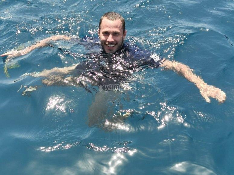 每天与海龟一起浮潜