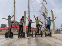 By the Port of Malaga by Segway