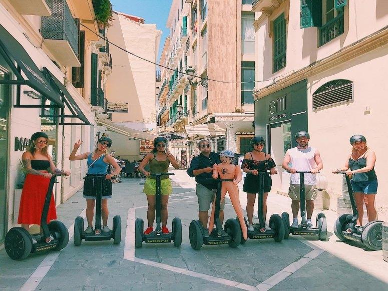 Malaga streets by segway