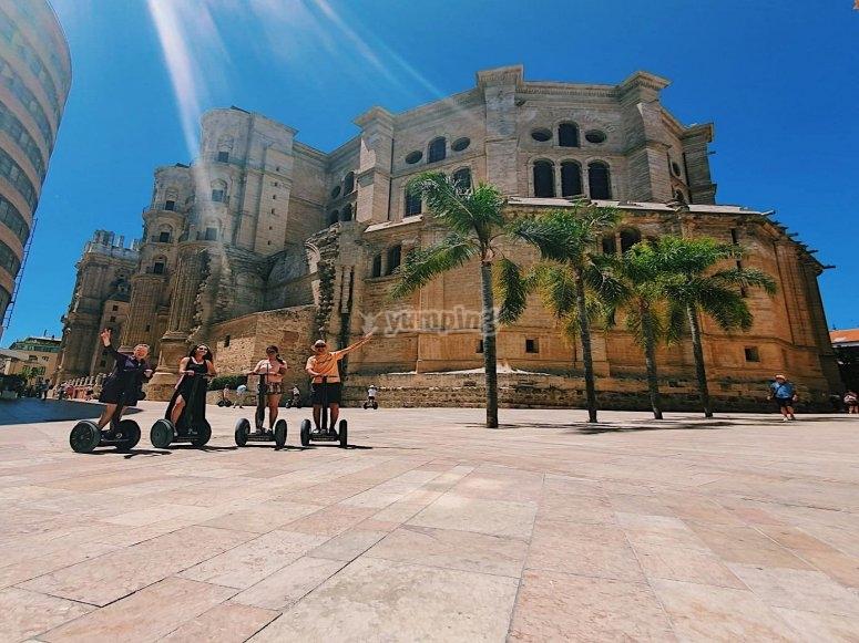 The imposing Cathedral of Málaga by segway