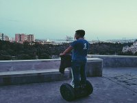 Málaga seen from the heights by segway