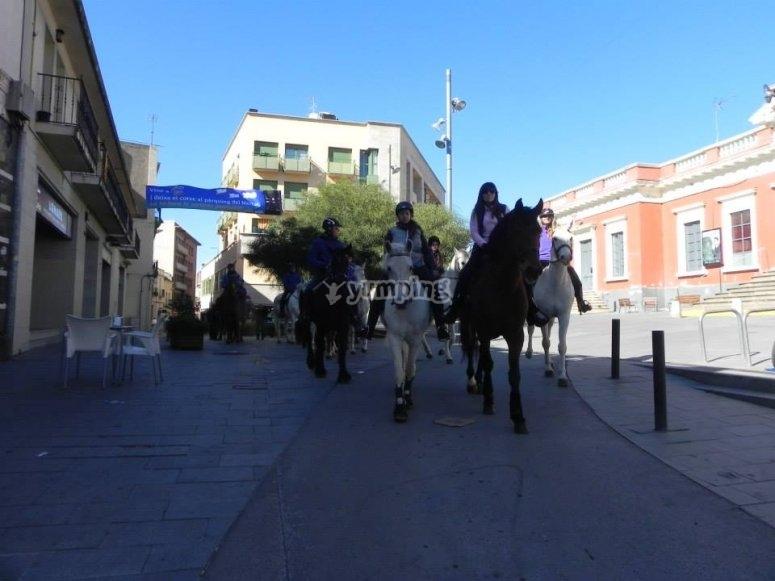 Montando a caballo por Barcelona