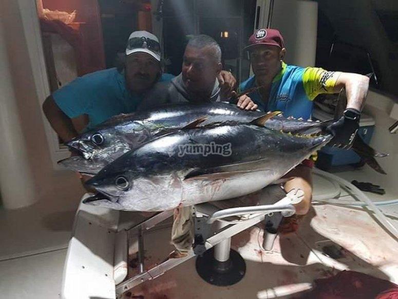 Buena captura tras día de pesca en Tenerife