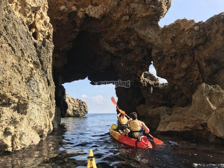 Paseo en kayak Eu Pontet