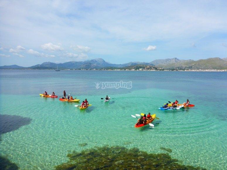 Tour guiado en kayak por Cala Sant Vicenç