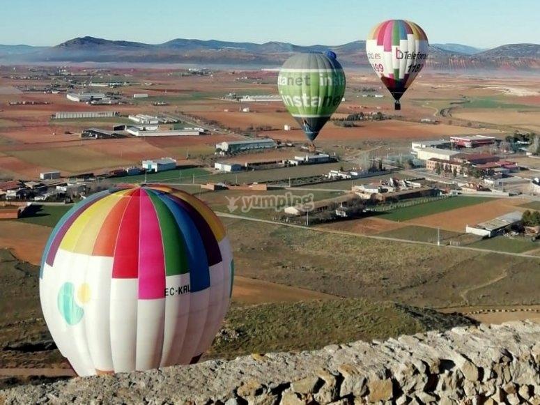 空气气球停留